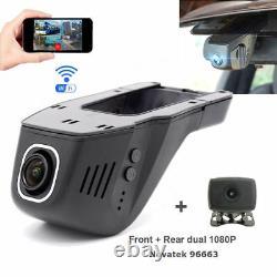 Hidden Wifi Car DVR Video Recorder dual Cameras Front 1080P +rear 1080p Dash Cam