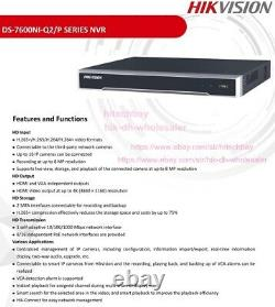 Hikvision 4k Nvr 16ch Poe 16 Channel 4k Ds-7616ni-q2/16p H265+ Network Recorder