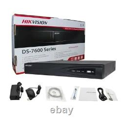 Hikvision NVR 4K 4/8CH POE Network Video Recorder H. 265+ 1 SATA for IP Camera US