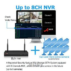 Home Security Camera System Outdoor Wireless Community Safety HD Record 2TB HDD