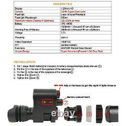 IR Night Vision Rifle Scope Video Record Hunting Optical Sight Camera 850nm 720P