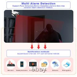 KERUI 4CH POE NVR Outdoor 5MP Security Camera System Face Record With ITB HDD