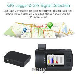 MINI 0906 4K 1.5 Front+Rear WIFI GPS Car Dash Cam Night Vision Loop Recording