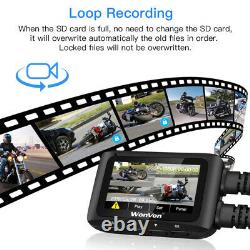 MT1 Dual Lens FHD 1080P WiFi GPS IMX323 Motorcycle Dash Cam DVR Video Recorder