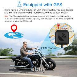 MT1 Waterproof Dual Lens FHD 1080P WiFi GPS Motorcycle Dash Cam Video Recorder