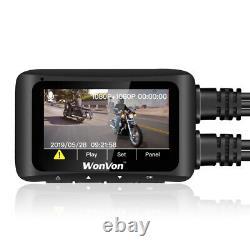 MT1 Waterproof Dual Lens HD1080P WiFi GPS Motorbike Dash Cam Video Recorder+32GB