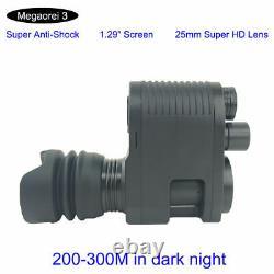 Megaorei 3 Night Vision Night Vision Scope 850nm 200-300M in Dark Video Recorder