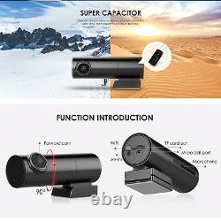 Mini Car DVR dual camera 2.4G band WiFi GPS DashCam video Recorder F HD 1440P