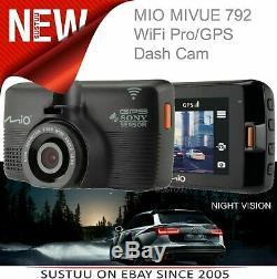 Mio Mivue 792 WIFI Pro GPS Car Dash Camera1080p Video RecordingNight ModeWiFi