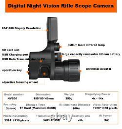 NVS30 4X-14X Digital Night Vision Rifle Scope Recorder Low Illumination Sensor