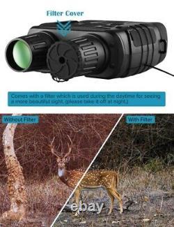 Night Vision Binoculars 300 Yards Digital IR Telescope Photos Video Recording