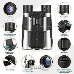 Night Vision Binoculars with LCD Screen, Day/Night Video Recording BAK4 Optics