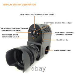 Night Vision Rifle Scope Video Record Hunting Camera Laser Telescope IR 850NM