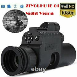 Night Vision Scope Add On Rifle HD 1080P Recording 850nm IR Torch ZIYOUHU IE-01