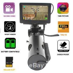 Night Vision Scope Camera Add On & 5 HD, Video Recording, Laser IR & Mounts NEW