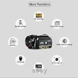 ORDRO AC3 4K HD WiFi Digital Video Camera Camcorder 24MP 30X Zoom IR DV Recorder