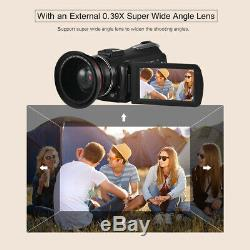 ORDRO AC3 4K WiFi Digital Video Camera Camcorder DV Recorder 24MP 30X Zoom W1F2