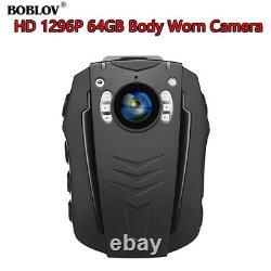 PD70 1296P 32GB 64GB WiFi Wearable Body Camera Audio Recording 2200mAh Battery