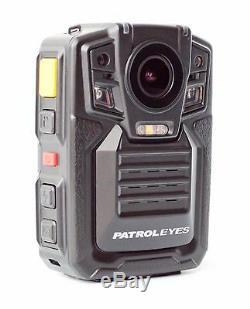 PatrolEyes HD 1296P GPS IR Night Vision Police Body Camera Recorder 32GB DV5-2