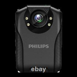 Philips Body Worn Camera Night Vision 1296P HD Law Enforcement Recorder VTR8201