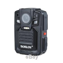 Police Body Worn Camera HD 1296P 64GB Video Recording IR Night Vision + Lens DVR