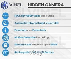 Portable Power Bank Camera Mini IR Night Vision Security Recording