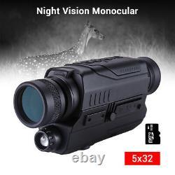 Pro 5x32 Optics 16GB Infrared Night Vision Monocular Camera Recorder USB Port