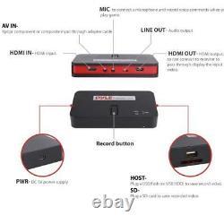 Pyle PVRC52 HD External Capture Card Video Full HD 1080p Video Recording System