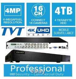Qsee QTH165-2(SIMILAR MODEL)16 Channels 4K UHD 4MP 4TB HDD Long Time Recording