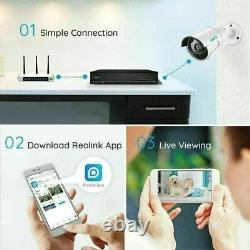 Reolink 4MP 8CH PoE NVR Security Camera System Kit for 7/24 Recording Renewed