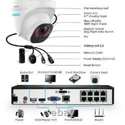 Reolink 8CH NVR 8MP PoE Security Camera System With Audio 24/7 Recording Outdoor