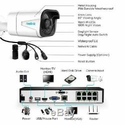 Reolink RLK8-800B4 4K 8MP POE Security Camera System IP Wire 8CH 7x24 Recording