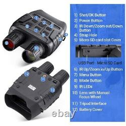 Rexing B1 Infrared Night Vision Binoculars LCD Screen Video Recording Digital