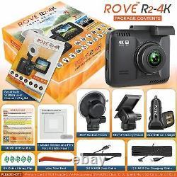 Rove R2-4K Dash Cam Built in WiFi GPS Car Dashboard Camera Recorder UHD 2160P