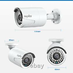 SANNCE 1080P POE Security Camera System 5MP 8CH NVR Audio Recording Night Vision