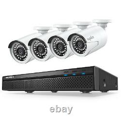 SANNCE 8CH 5MP Audio Recording POE System H. 264+ NVR Home Security IP66 Camera