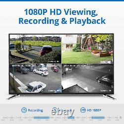SANNCE 8CH 5MP NVR Outdoor 1080P POE Security IP Camera System Audio Recording