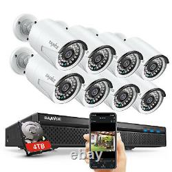 SANNCE HD 5MP 8CH NVR 1080P POE Security Camera System 2MP Audio Recording Onvif