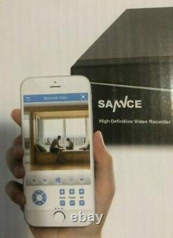 Sannce HD Network Video Recorder with 4 Security Cameras and wires. DIY system