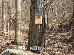 Self Recording Solar Powered Night Vision Birdhouse Spy Camera with backup batte