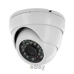 Sikker 4 Channel DVR Recorder indoor outdoor Surveillance Camera Security System
