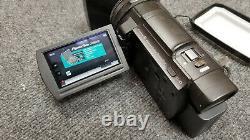 Sony 4K Handycam FDR-AX33 Video Camera Recorder Viltrox DC-70II Hood & Hard Case