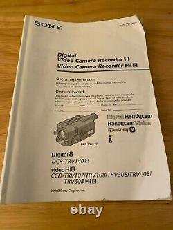 Sony Digital Handycam Video Camera Recorder Hi8 CCD-TRV308 NTSC