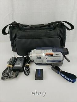 Sony Handycam CCD-TRV318 Hi-8 8mm Camcorder Video Camera Recorder with Acc TESTED