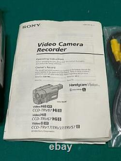 Sony Video Camera Recorder Hi8 8mm 360x Zoom Handycam Vision Night Shot TESTED