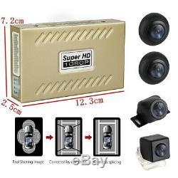 Starlight Night Vision Camera 360° Bird View Panorama System Car DVR Recording