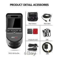 T691C 2 Inch 4K 2160P/1080P FHD Dash Cam 170° Dual Lens Car DVR Camera Recorder
