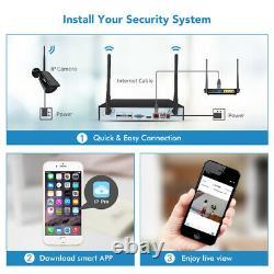 TMEZON 8CH 1080P Wireless Security Camera System WiFi CCTV NVR Audio Recording