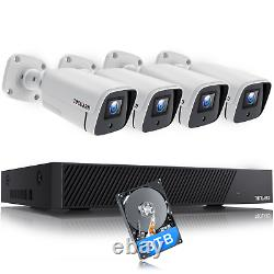 TOGUARD 4K 8MP POE Security Camera System IP Wired 8CH NVR Kit 7x24 Recording+3T