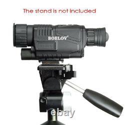 Tactical IR Infrared Night Vision Monocular Scope Camera 200m 5X40 8G Record Bro